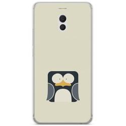 Funda Gel Tpu para Meizu M6 Note Diseño Pingüino Dibujos