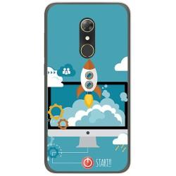 Funda Gel Tpu para Alcatel A7 (4G) Diseño Cohete Dibujos