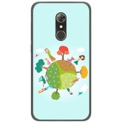 Funda Gel Tpu para Alcatel A7 (4G) Diseño Familia Dibujos