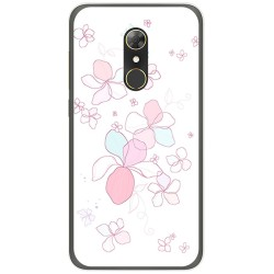 Funda Gel Tpu para Alcatel A7 (4G) Diseño Flores Minimal Dibujos