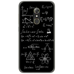 Funda Gel Tpu para Alcatel A7 (4G) Diseño Formulas Dibujos