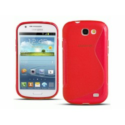 Funda Gel Tpu Samsung Samsung Galaxy Express I8730 S Line Color Roja