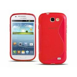 Funda Gel Tpu Samsung Samsung Galaxy Express I8730 S Line Color Roja