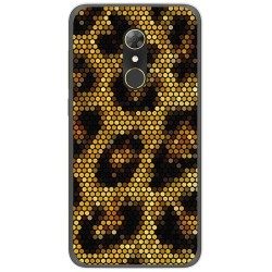 Funda Gel Tpu para Alcatel A7 (4G) Diseño Leopardo Dibujos