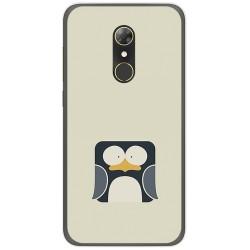 Funda Gel Tpu para Alcatel A7 (4G) Diseño Pingüino Dibujos