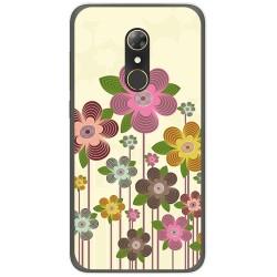 Funda Gel Tpu para Alcatel A7 (4G) Diseño Primavera En Flor Dibujos