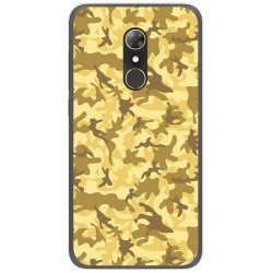 Funda Gel Tpu para Alcatel A7 (4G) Diseño Sand Camuflaje Dibujos