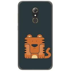 Funda Gel Tpu para Alcatel A7 (4G) Diseño Tigre Dibujos