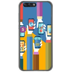"Funda Gel Tpu para Asus Zenfone 4 5.5"" Ze554Kl Diseño Apps Dibujos"