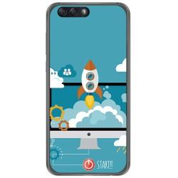 "Funda Gel Tpu para Asus Zenfone 4 5.5"" Ze554Kl Diseño Cohete Dibujos"