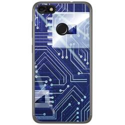 Funda Gel Tpu para Huawei Y6 Pro 2017 / P9 Lite Mini Diseño Circuito Dibujos