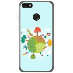 Funda Gel Tpu para Huawei Y6 Pro 2017 / P9 Lite Mini Diseño Familia Dibujos