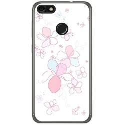 Funda Gel Tpu para Huawei Y6 Pro 2017 / P9 Lite Mini Diseño Flores Minimal Dibujos