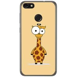 Funda Gel Tpu para Huawei Y6 Pro 2017 / P9 Lite Mini Diseño Jirafa Dibujos