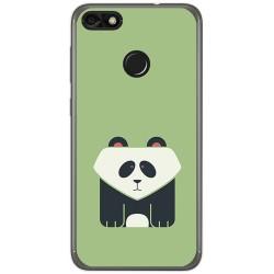 Funda Gel Tpu para Huawei Y6 Pro 2017 / P9 Lite Mini Diseño Panda Dibujos