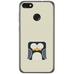 Funda Gel Tpu para Huawei Y6 Pro 2017 / P9 Lite Mini Diseño Pingüino Dibujos