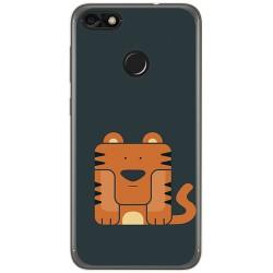 Funda Gel Tpu para Huawei Y6 Pro 2017 / P9 Lite Mini Diseño Tigre Dibujos