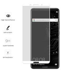 Protector Cristal Templado Frontal Completo Blanco para Huawei Mate 10 Pro Vidrio