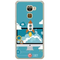 Funda Gel Tpu para Letv Le Pro3 / Pro3 Elite Diseño Cohete Dibujos