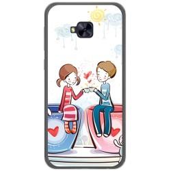 Funda Gel Tpu para Asus Zenfone 4 Selfie Pro Zd552Kl Diseño Cafe Dibujos