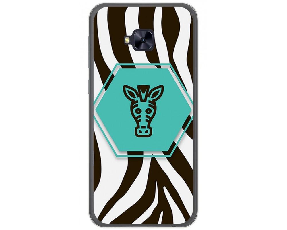 Funda Gel Tpu para Asus Zenfone 4 Selfie Pro Zd552Kl Diseño Cebra Dibujos