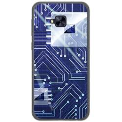 Funda Gel Tpu para Asus Zenfone 4 Selfie Pro Zd552Kl Diseño Circuito Dibujos