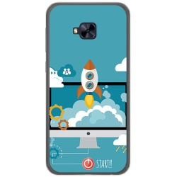 Funda Gel Tpu para Asus Zenfone 4 Selfie Pro Zd552Kl Diseño Cohete Dibujos