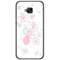 Funda Gel Tpu para Asus Zenfone 4 Selfie Pro Zd552Kl Diseño Flores Minimal Dibujos