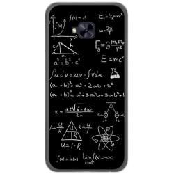 Funda Gel Tpu para Asus Zenfone 4 Selfie Pro Zd552Kl Diseño Formulas Dibujos
