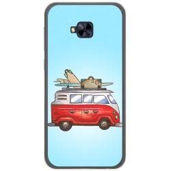 Funda Gel Tpu para Asus Zenfone 4 Selfie Pro Zd552Kl Diseño Furgoneta Dibujos