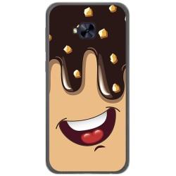 Funda Gel Tpu para Asus Zenfone 4 Selfie Pro Zd552Kl Diseño Helado Chocolate Dibujos