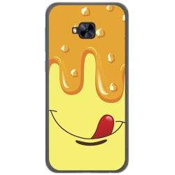 Funda Gel Tpu para Asus Zenfone 4 Selfie Pro Zd552Kl Diseño Helado Vainilla Dibujos