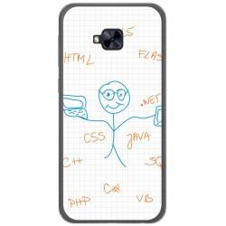Funda Gel Tpu para Asus Zenfone 4 Selfie Pro Zd552Kl Diseño Informatico Dibujos