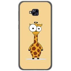 Funda Gel Tpu para Asus Zenfone 4 Selfie Pro Zd552Kl Diseño Jirafa Dibujos