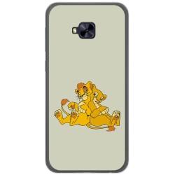 Funda Gel Tpu para Asus Zenfone 4 Selfie Pro Zd552Kl Diseño Leones Dibujos