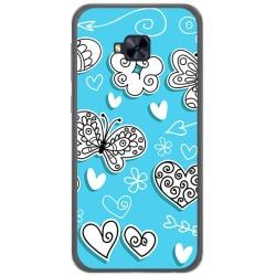 Funda Gel Tpu para Asus Zenfone 4 Selfie Pro Zd552Kl Diseño Mariposas Dibujos