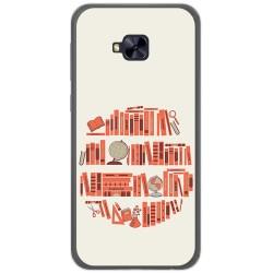 Funda Gel Tpu para Asus Zenfone 4 Selfie Pro Zd552Kl Diseño Mundo Libro Dibujos