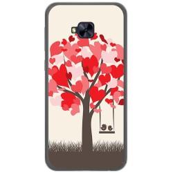 Funda Gel Tpu para Asus Zenfone 4 Selfie Pro Zd552Kl Diseño Pajaritos Dibujos