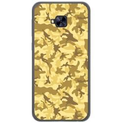 Funda Gel Tpu para Asus Zenfone 4 Selfie Pro Zd552Kl Diseño Sand Camuflaje Dibujos