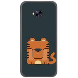 Funda Gel Tpu para Asus Zenfone 4 Selfie Pro Zd552Kl Diseño Tigre Dibujos