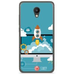 "Funda Gel Tpu para Meizu M6 5.2"" Diseño Cohete Dibujos"