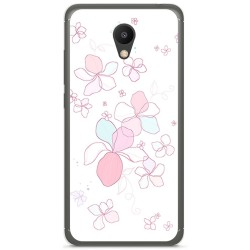 "Funda Gel Tpu para Meizu M6 5.2"" Diseño Flores Minimal Dibujos"