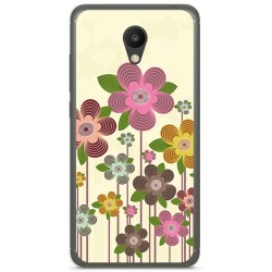 "Funda Gel Tpu para Meizu M6 5.2"" Diseño Primavera En Flor Dibujos"