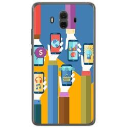 Funda Gel Tpu para Huawei Mate 10  Diseño Apps Dibujos
