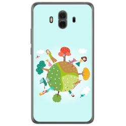 Funda Gel Tpu para Huawei Mate 10  Diseño Familia Dibujos