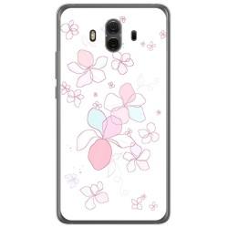 Funda Gel Tpu para Huawei Mate 10  Diseño Flores Minimal Dibujos