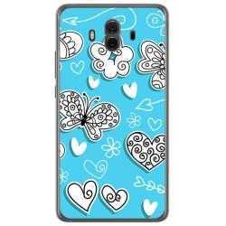 Funda Gel Tpu para Huawei Mate 10  Diseño Mariposas Dibujos