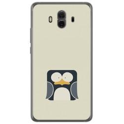 Funda Gel Tpu para Huawei Mate 10  Diseño Pingüino Dibujos