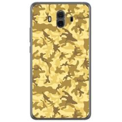 Funda Gel Tpu para Huawei Mate 10  Diseño Sand Camuflaje Dibujos