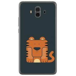 Funda Gel Tpu para Huawei Mate 10  Diseño Tigre Dibujos